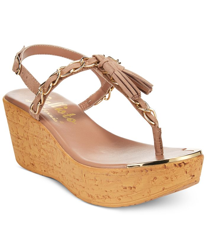 Callisto - Tella Thong Wedge Sandals