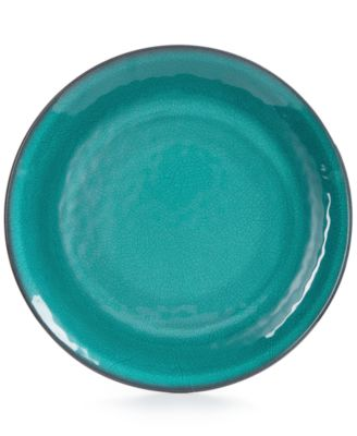 Home Design Studio Aqua Melamine Dinnerware Collection Dinner Plate, Only at Macy's