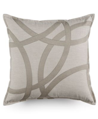 "Hotel Collection Eclipse Embroidered 18"" Square Decorative Pillow, Only at Macy's"