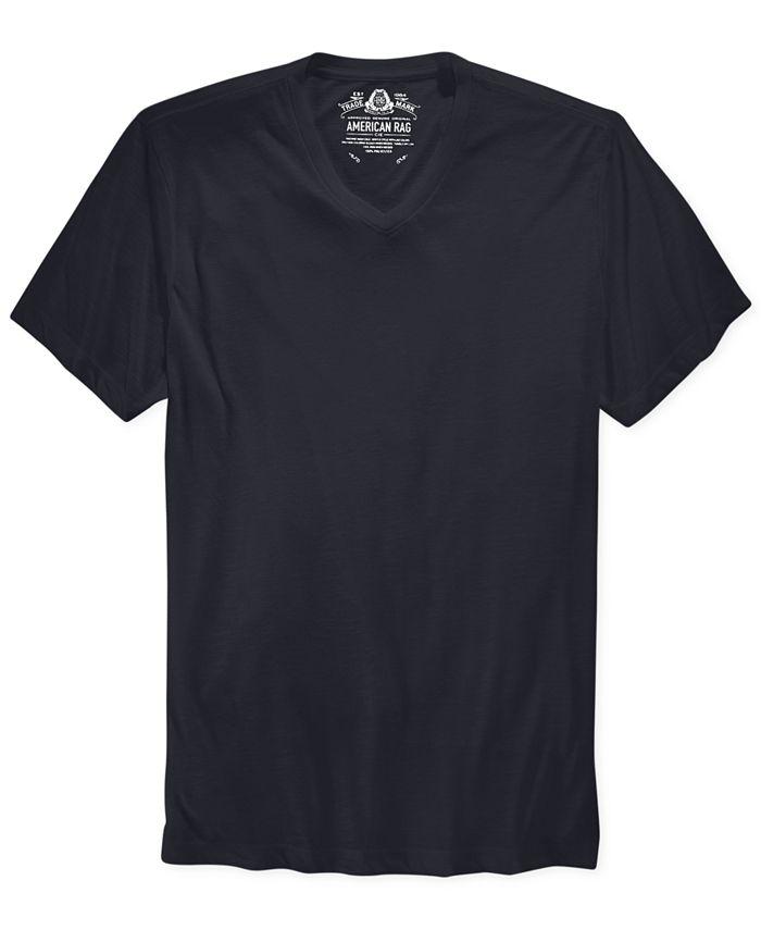 American Rag - T Shirt, Basic V Neck Slub EDV