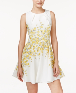 a7d53887b7b UPC 661414449504 product image for Teeze Me Juniors  Sleeveless Floral-Print  Fit   Flare ...