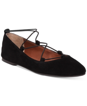 Lucky Brand Women's Aviee Lace-Up Ballet Flats Women's Shoes