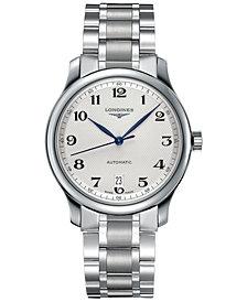 Longines Men's Swiss Automatic Master Stainless Steel Bracelet Watch 39mm L26284786