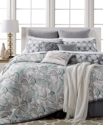 Kelly Ripa Home Fretwork Gray 10-Pc Queen Comforter Set, Only at Macy's