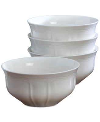 Mikasa Dinnerware, Set of 4 Antique White Cereal Bowls