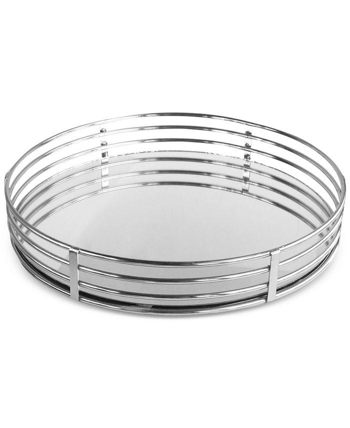 """Jay Imports - Metal Circle 15"""" Mirror Tray"""
