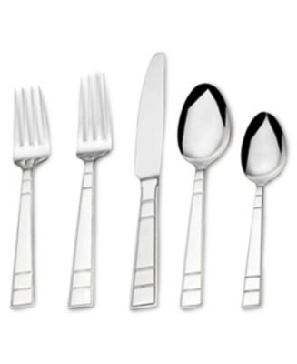 Mikasa 65-Pc. Clover Flatware Set Service for 12