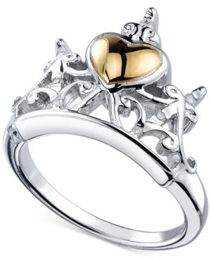 Disney Diamond Accent Tiara Ring in Sterling Silver and 14k Gold-Plating