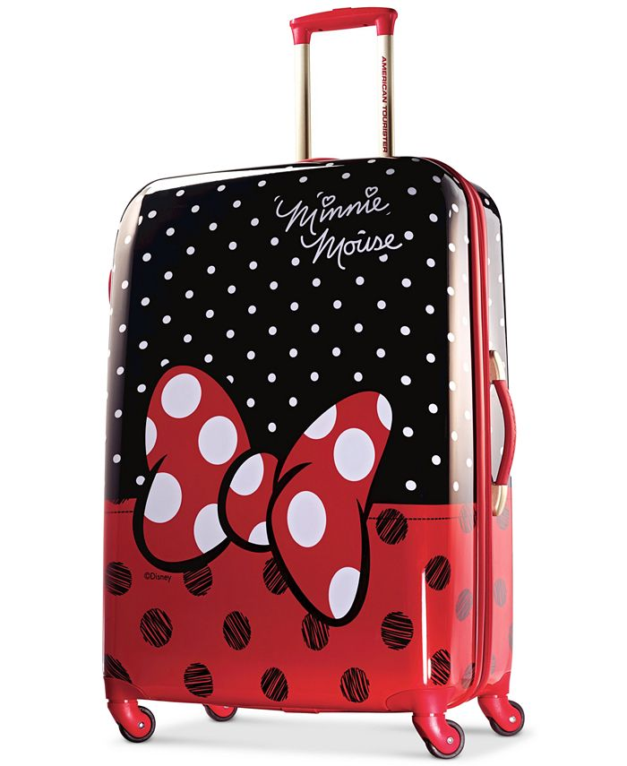 """American Tourister - Disney Minnie Mouse Red Bow 28"""" Hardside Spinner Suitcase"""