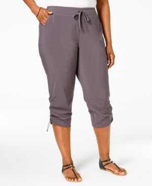 Style & Co. Plus Size Ruched Active Capri Pants, Only at Macy's