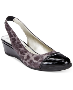 Anne Klein Callum Slingback Wedge Pumps