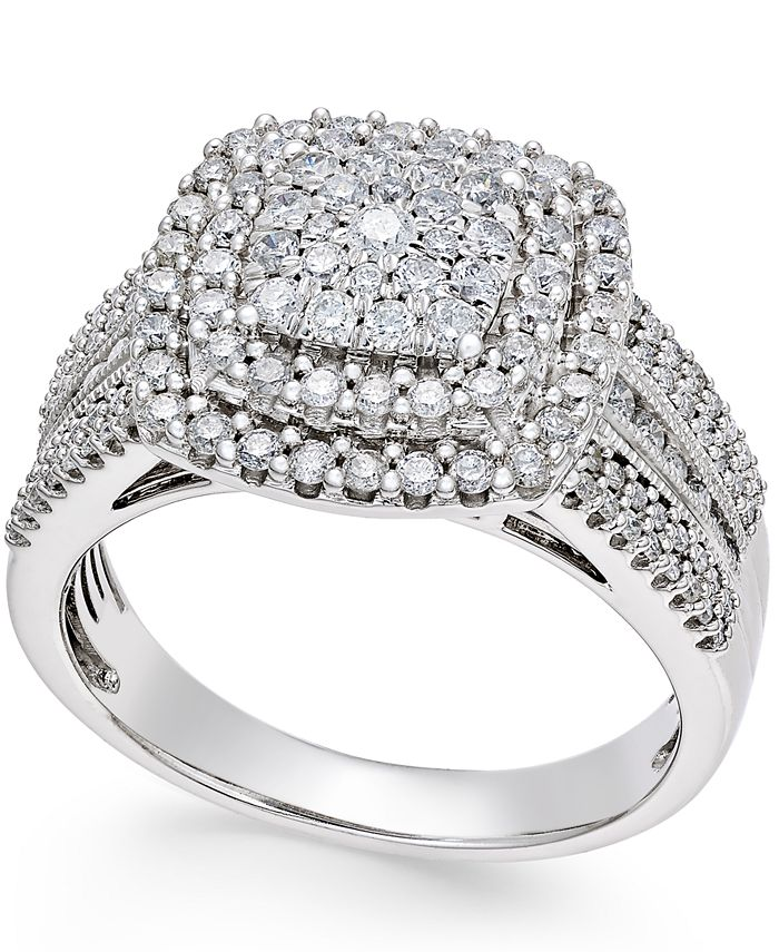 Macy's - Diamond Cluster Ring (1 ct. t.w.) in 14k Gold or White Gold