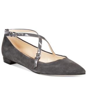 Nine West Anastagia Strappy Pointed-Toe Flats Women's Shoes
