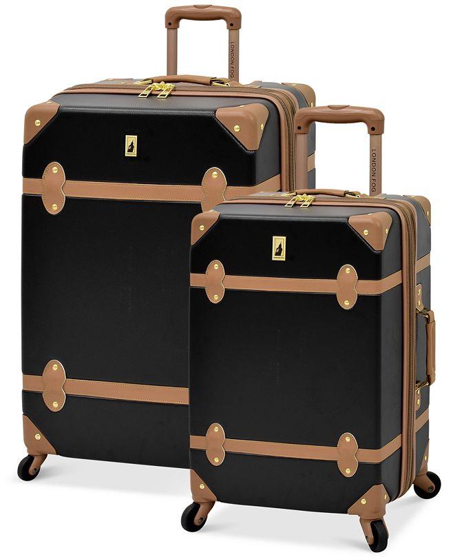 London Fog CLOSEOUT!  Retro Hardside Spinner Luggage