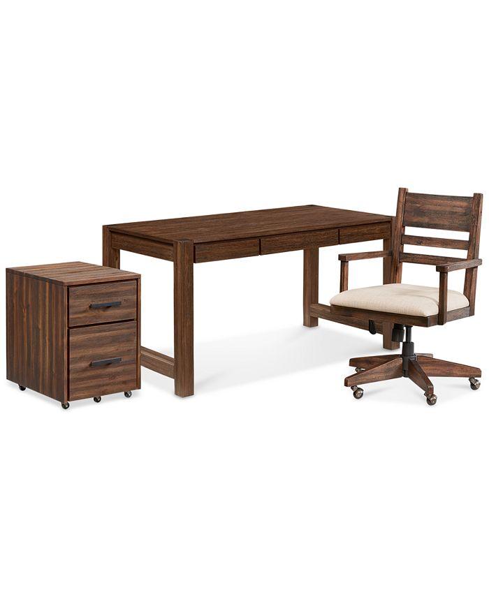 Furniture - Avondale Home Office , 3-Pc. Set (Desk, File Cabinet & Desk Chair)