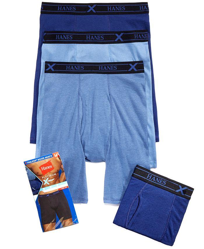 Hanes - Men's 4-Pk. X-Temp Boxer Briefs