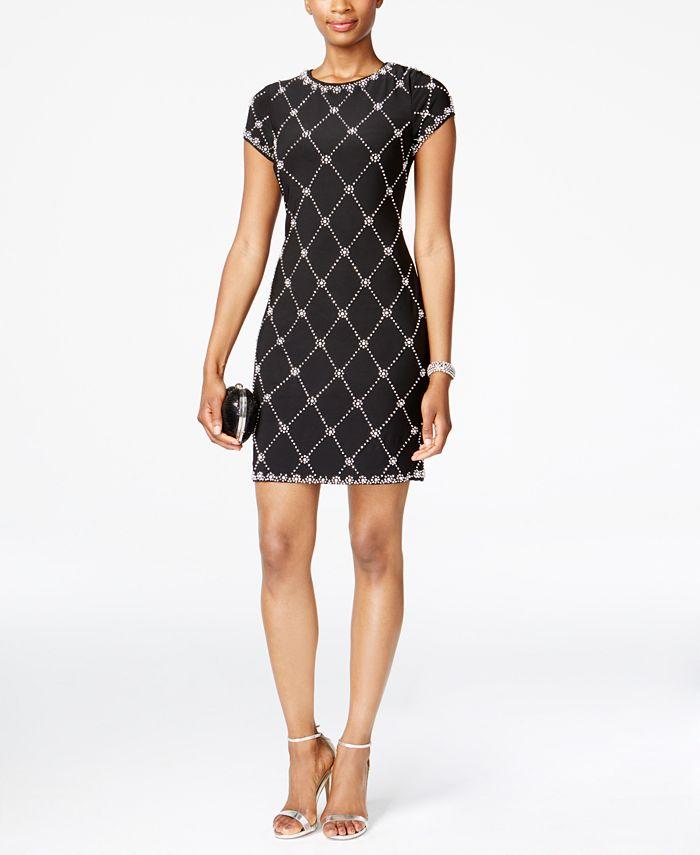Betsy & Adam - Petite Embellished Sheath Dress