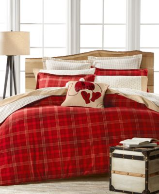 Martha Stewart Collection Appleton Plaid Flannel Full/Queen Duvet, Only at Macy's