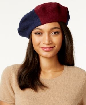 1940s Style Hats Inc International Concepts Colorblock Beret Only at Macys $32.50 AT vintagedancer.com