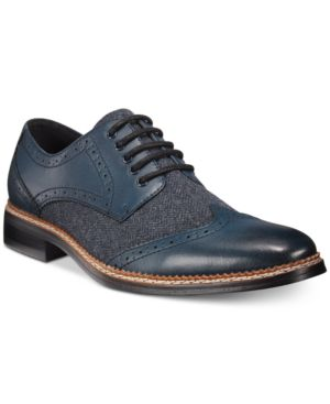 Bar Iii Monte Mixed Media Wing-Tip Oxfords, Only at Macy's Men's Shoes