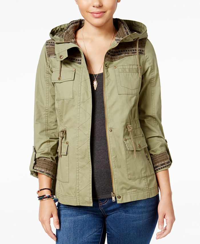 American Rag - Roll-Tab Hooded Jacket