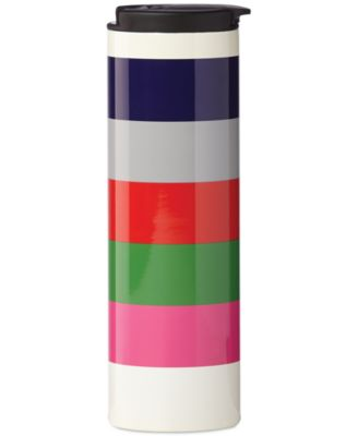 kate spade new york all in good taste Striped Travel Tumbler, Only at Macy's