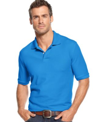 Image of Club Room Short Sleeve Solid Estate Performance Sun Protection Polo