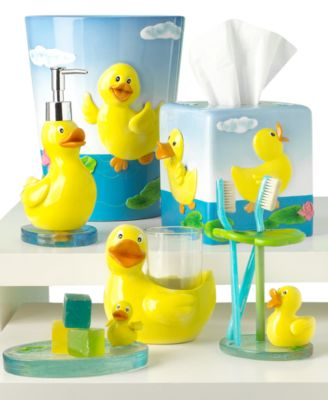 Paradigm duck accessories collection bathroom for Duck bathroom accessories