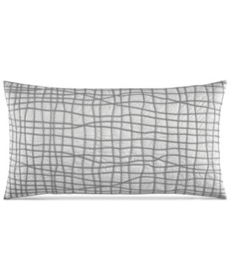 "Hotel Collection Modern Plaid 14"" x 26"" Decorative Pillow, Only at Macy's"