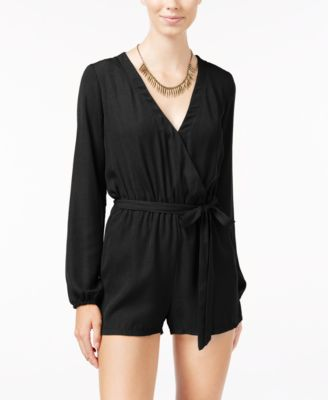 Image of Be Bop Juniors' Faux-Wrap Romper