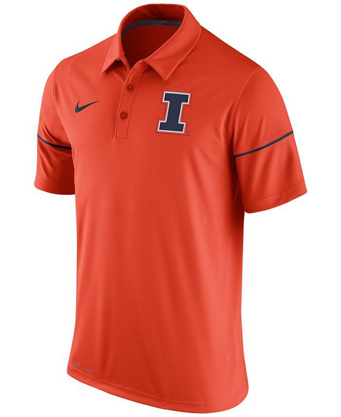 Nike - Men's Illinois Fighting Illini Team Issue Polo Shirt