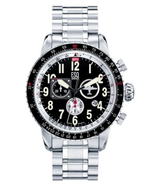 ESQ by Movado Watch, Men's Swiss Chronograph Beacon Stainless Steel Bracelet 07301236