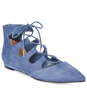Bar Iii Lasso Lace-Up Flats, Only at Macy's Women's Shoes