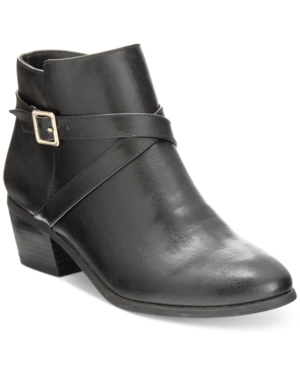 Karen Scott Flynne Block-Heel Booties, Only at Macy's Women's Shoes