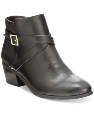 Karen Scott Flynne Block-Heel Booties, Only at Macy's Women's Shoes