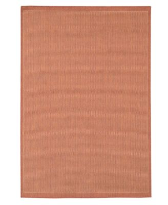 """CLOSEOUT! Recife Saddle Stitch Terracotta/Natural 3'9"""" x 5'5"""" Indoor/Outdoor Area Rug"""