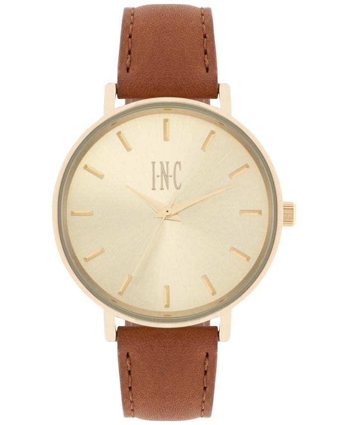 INC International Concepts - Women's Leather Strap Watch 36mm IN005G
