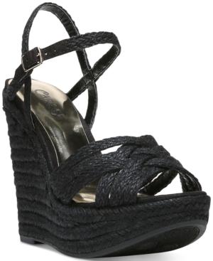 Carlos by Carlos Santana Brayden Two-Piece Platform Wedge Sandals Women's Shoes