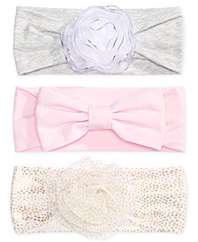 First Impressions, Baby Girls 3-Pk. Headbands, Created for Macy's