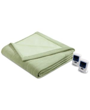 Beautyrest Knit Micro-Fleece Twin Heated Blanket Bedding