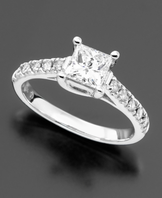 14k White Gold Diamond Engagement Ring (1 ct. tw.)