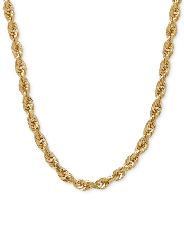 """Macy's - Rope Chain 24"""" Necklace in Solid 14k Gold"""