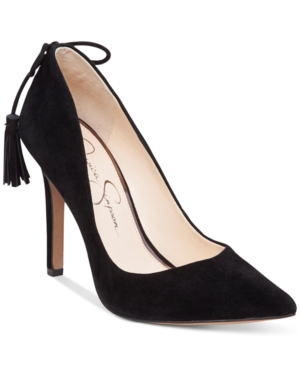 Jessica Simpson Centella Tassel Pointy-Toe Pumps Women's Shoes