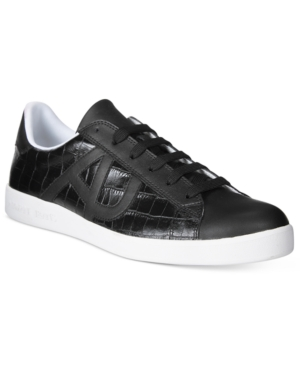 Armani Jeans Men's Crocco Embossed Sneakers Men's Shoes