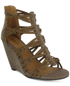 Mia Dylon Wedge Sandals Women's Shoes