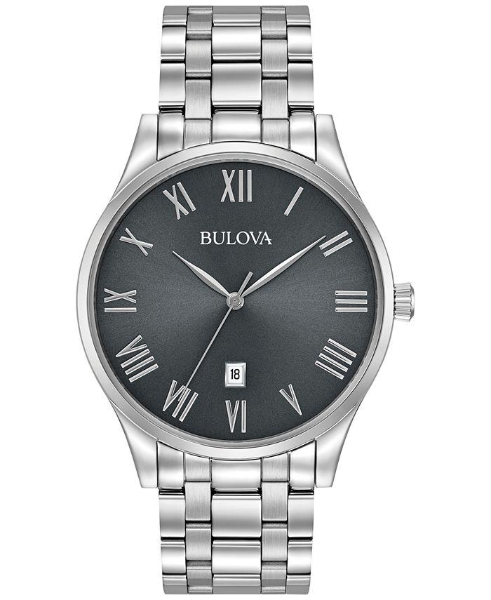Bulova - Men's Stainless Steel Bracelet Watch 40mm 96B261