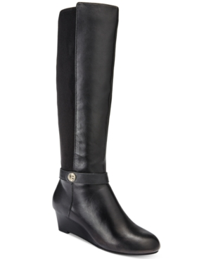 Giani Bernini Dafnee Tall Wedge Boots, Only at Macy's Women's Shoes