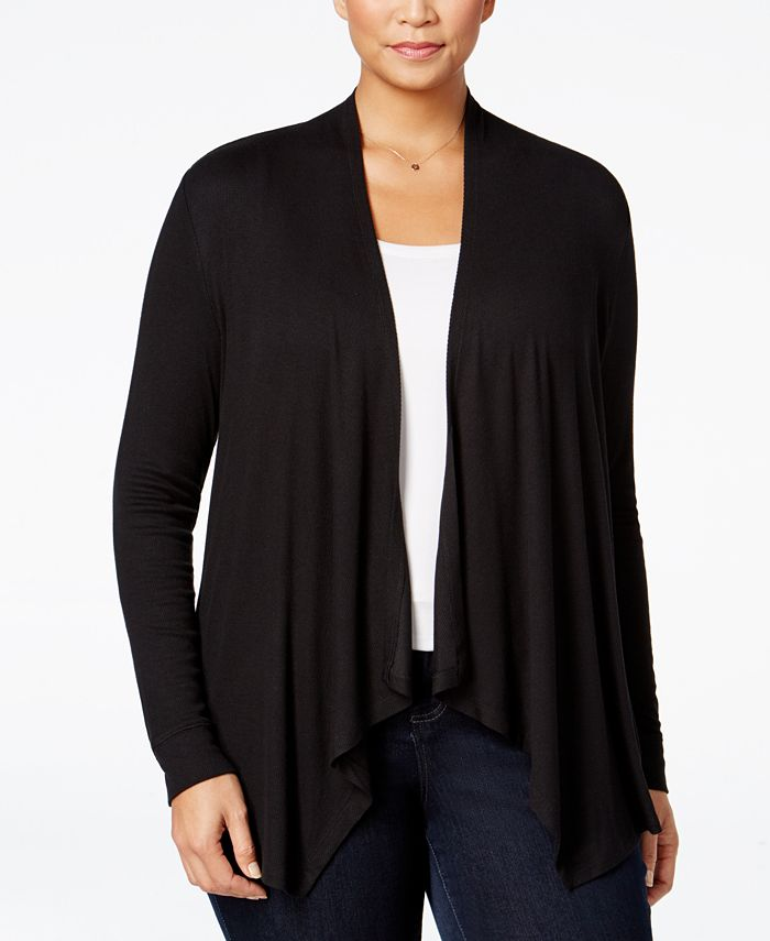 INC International Concepts - Plus Size Draped Open-Front Cardigan
