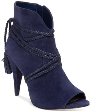 Vince Camuto Astan Braided-Strap Booties Women's Shoes