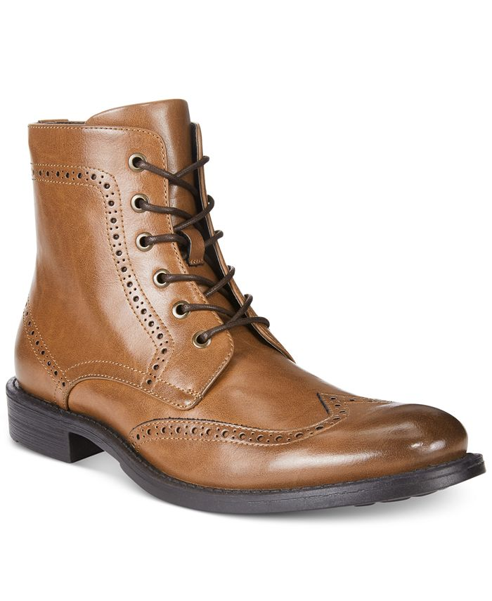Unlisted - Men's Blind Sided Wingtip Perforated Boots